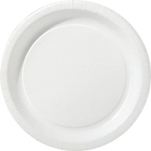 Duni Teller laminiert Pappe ø 22 cm weiß, 20 Stück