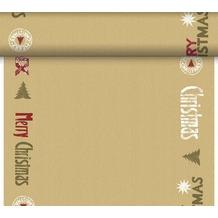 Duni Tête-à-Tête-Tischläufer, alle 120 cm perforiert  40 x 2400 cm  Winter craft red