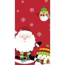 Duni Tischdecken Dunicel® 138 x 220 cm Winter Santa Fun 1er Pack