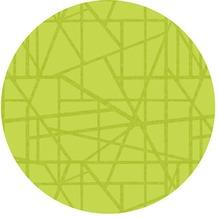 Duni Tischsets aus Silikon Motiv Maze kiwi, 35 cm rund, 6 Stück