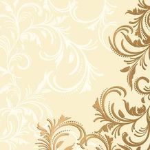 Duni Tissue Cocktail - Servietten 24 x 24 cm Grace Cream, 20 Stück