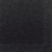 Duni Tissue Cocktail - Servietten 24 x 24 cm schwarz, 20 Stück
