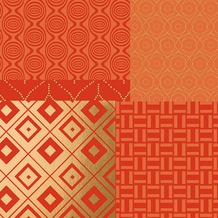 Duni Tissue Servietten 33 x 33 cm Geopatch Mandarin, 20 Stück