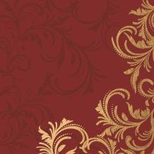 Duni Tissue Servietten 33 x 33 cm Grace Bordeaux, 20 Stück