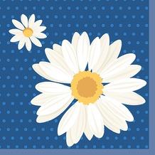 Duni Tissue Servietten 33 x 33 cm My Daisy Blue, 20 Stück