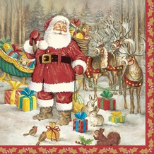 Duni Tissue Servietten Hello Santa 33 x 33 cm 20 Stück