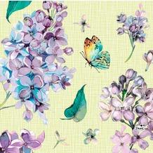 Duni Tissue Servietten Sweet Butterfly Lime 33 x 33 cm 20 Stück