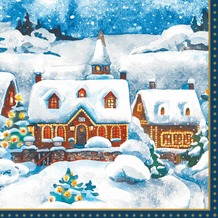 Duni Tissue Servietten Winter Village 33 x 33 cm 20 Stück