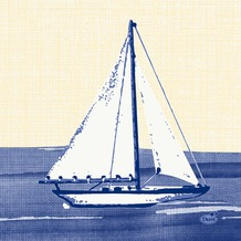 Duni Zelltuch-Servietten 3 lagig 1/ 4 Falz 24 x 24 cm Sailing, 250 Stück