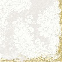 Duni Zelltuch-Servietten 3 lagig 1/ 4 Falz 33 x 33 cm Royal White, 250 Stück