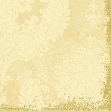 Duni Zelltuch-Servietten 3 lagig 1/ 4 Falz 40 x 40 cm Royal Cream, 250 Stück