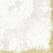 Duni Zelltuch-Servietten 3 lagig 1/ 4 Falz 40 x 40 cm Royal White, 250 Stück