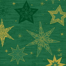 Duni Zelltuchservietten 33 x 33 cm Star Stories Green