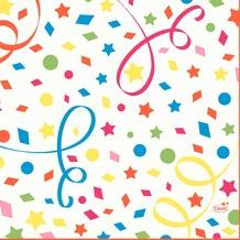 Duni Zelltuchservietten Confetti 33 x 33 cm 1/ 4 Falz 50 Stück