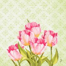 Duni Zelltuchservietten Love Tulips 40 x 40 cm 250 Stück