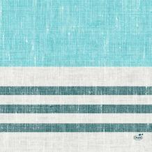 Duni Zelltuchservietten Raya blue 33 x 33 cm 1/ 4 Falz 250 Stück