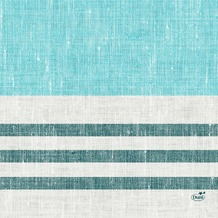 Duni Zelltuchservietten Raya blue 33 x 33 cm 1/ 4 Falz 50 Stück