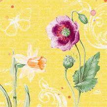 Duni Zelltuchservietten Spring Lilies 33 x 33 cm 250 Stück
