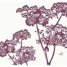 Duni Zelltuchservietten Yarrow 33 x 33 cm 1/ 4 Falz 50 Stück