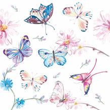 Paper+Design Servietten Tissue Butterflies 33 x 33 cm 20er