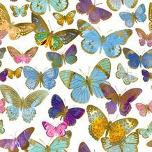 Paper+Design Servietten Tissue Golden butterflies 33 x 33 cm 20er