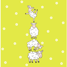 Paper+Design Servietten Tissue Hoppy Lambs 33 x 33 cm 20er