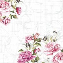 Paper+Design Servietten Tissue Rose letters 33 x 33 cm 20er