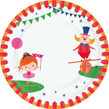 Paper+Design Teller Pappe Carnival fun ø 22 cm 10er