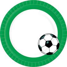 Paper+Design Teller Pappe Football ø 22 cm 10er