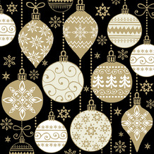 Paper+Design Servietten Tissue 33 x 33 cm Baubles with pattern 20er Pack