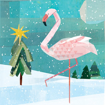 Paper+Design Servietten Tissue 33 x 33 cm Winter flamingo 20er Pack