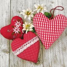 Paper+Design Servietten Tissue Bavarian hearts 33 x 33 cm 20er