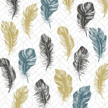 Paper+Design Servietten Tissue Coloured feathers 33 x 33 cm 20 Stück