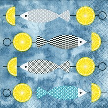 Paper+Design Servietten Tissue I like fish 33 x 33 cm 20er