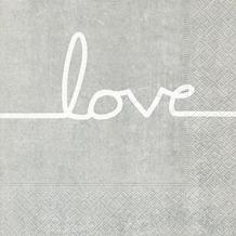 Paper+Design Servietten Tissue Love line 33 x 33 cm 20er