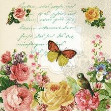 Paper+Design Servietten Tissue Portrait of butterfly 33 x 33 cm 20er