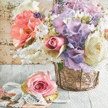 Paper+Design Servietten Tissue Romantic bouquet 33 x 33 cm 20er