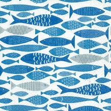 Paper+Design Servietten Tissue Shoal of fish 33 x 33 cm 20er
