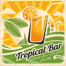 Paper+Design Servietten Tissue Tropical bar 25 x 25 cm 20er