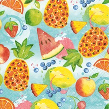 Paper+Design Servietten Tissue Tropical fruits 25 x 25 cm 20er
