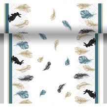 Paper+Design Tischläufer Coloured feathers 0,4 x 4,80 m 1 Stück
