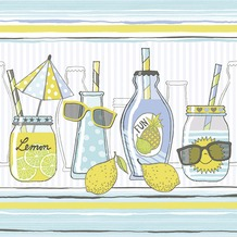 Paper+Design Tissue Servietten Lemonade 33 x 33 cm 20 Stück