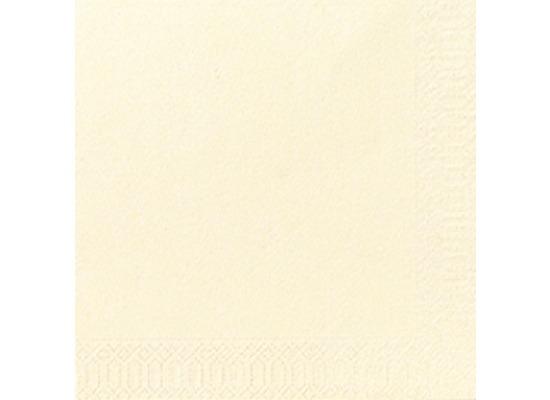 Duni Cocktail-Servietten 3lagig Tissue Uni champagne, 24 x 24 cm, 20 Stück