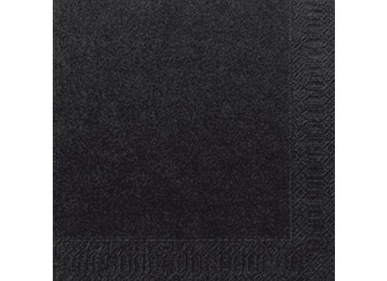 Duni Servietten 3lagig Tissue Uni schwarz, 33 x 33 cm, 250 Stück