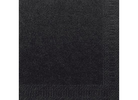 Duni Servietten 3lagig Tissue Uni schwarz, 33 x 33 cm, 20 Stück