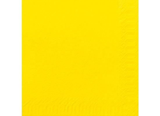 Duni Servietten 3lagig Tissue Uni gelb, 33 x 33 cm, 50 Stück