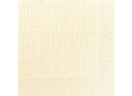 Duni Dinner-Servietten 4lagig Tissue geprägt Uni champagne, 40 x 40 cm, 50 Stück