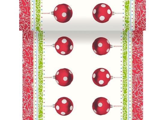 Duni Dunicel-Tischläufer 3 in 1, alle 40 cm perforiert, Motiv Decorations, 40 cm x 4,8 m