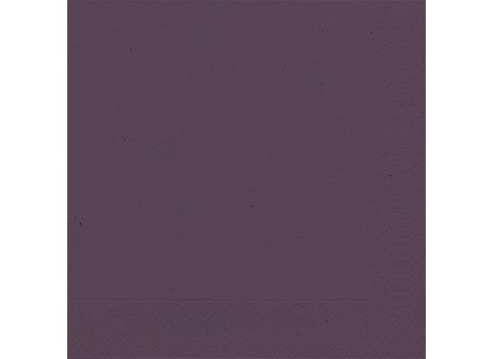 Duni Servietten 3lagig Tissue Uni plum, 33 x 33 cm, 20 Stück