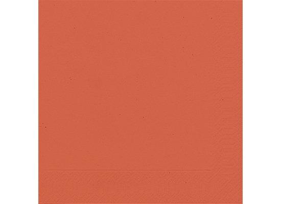 Duni Servietten 3lagig Tissue Uni mandarin, 33 x 33 cm, 20 Stück